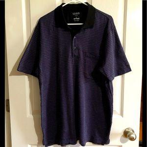 EUC Mens Izod golf Polo Shirt large blue